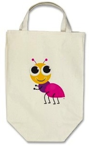 cute ant tote bag