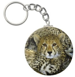 cute cheetah key chain