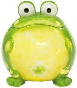 Toby the frog cookie jar