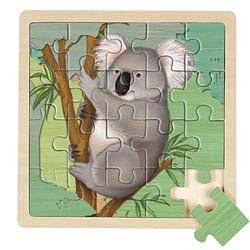Wooden Koala Bear jigsaw puzzle