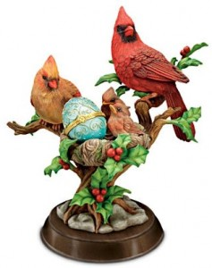 Bird Sculpture Collection With Limoges-Style Eggs: Songbirds Of North America