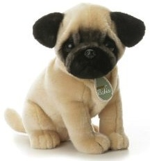 Aurora babies plush pug dog