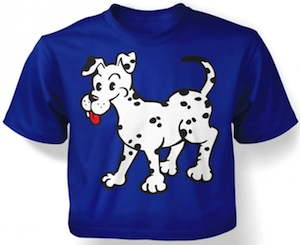 kids dog Dalmatian t-shirt