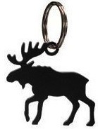 Moose metal key chain