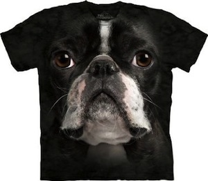 Boston Terrier Dog Face T-shirt