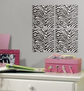 Zebra Peel & Stick Foam Tiles