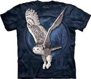 Flying Snow owl t-shirt