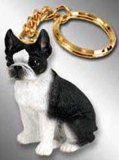 Boston Terrier Key Chain dog