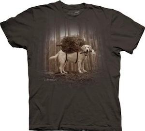 Lumberjack Labrador dog t-shirt