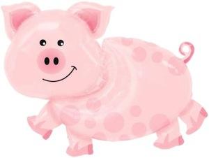 big pig party balloon