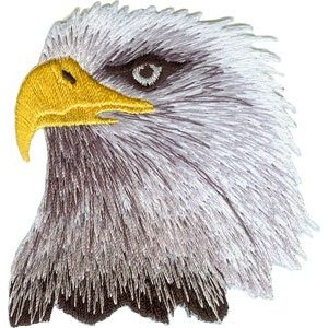 Bald eagle clothing patch