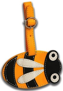 Bumblebee luggage tag