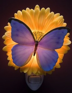 Butterfly and flower Night Light