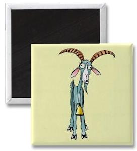 Funny goat magnet