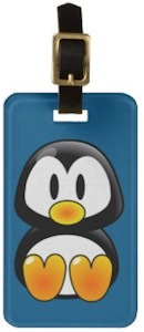 Baby Penguin Luggage Tag