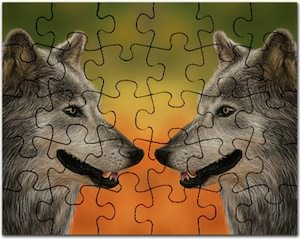 Twin Wolf jigsaw Puzzle
