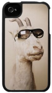 Goat Wearing Glasses iPhone Case