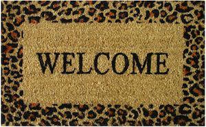 Leopard Print Welcome Doormat