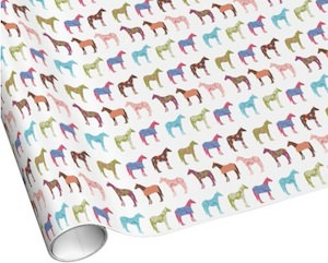 Colorful Horse Wrapping Paper