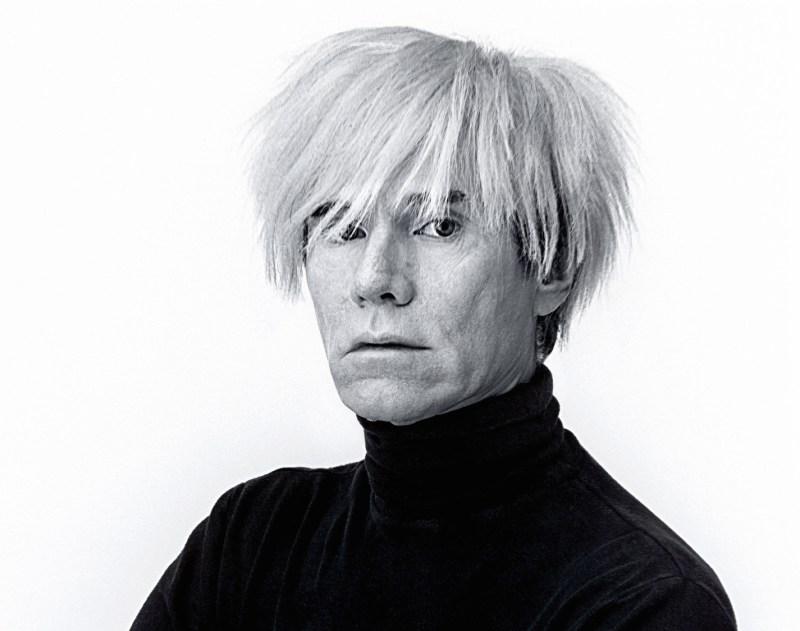B945H6 Andy Warhol, artist, portrait, himself, white background