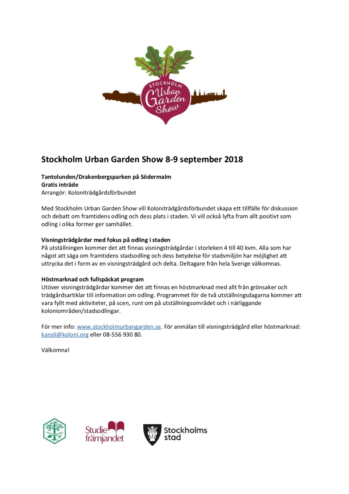 180201 Information om Stockholm Urban Garden Show 2018 us