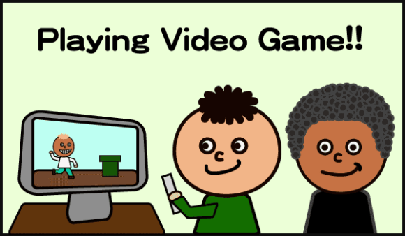 play video game