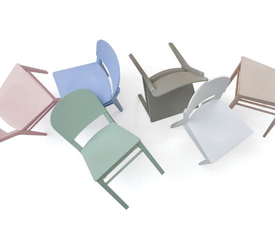 B Serie Stuhl Aloe Bild 3