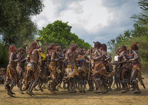 Hamer Ladies, Bull Jumping Ceremony, Omo Valley, Ethiopia