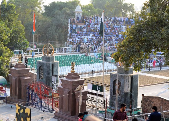 India Pakistan Border Gates at Wagah