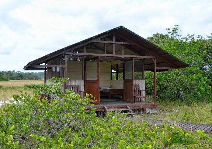 Hut Exterior, Tassi Camp, Loango NP, Gabon