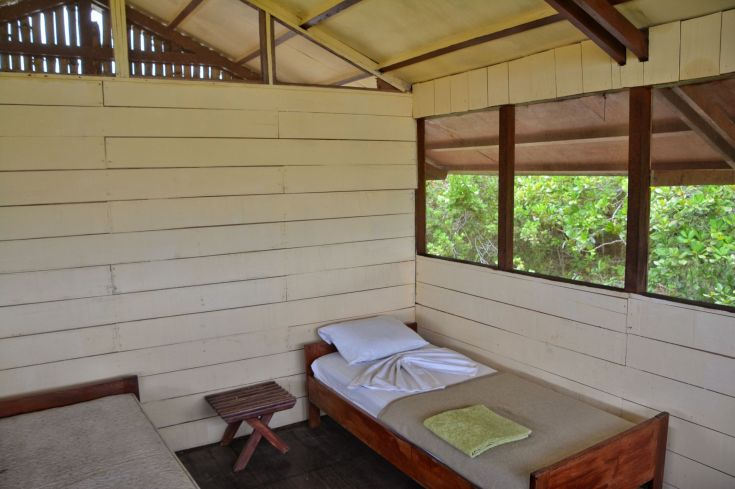 Hut Interior, Tassi Camp, Loango NP, Gabon