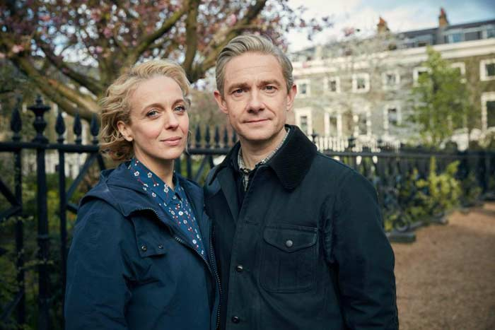 Martin Freimen and Amanda Abbington