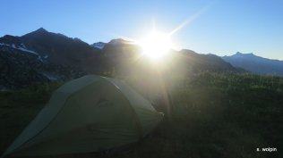 We camped off a spur after White Pass
