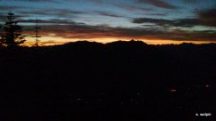 First rays of light at 4:16am - from near the western edge of Rattlesnake ridge