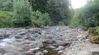 And crossing the Roaring River beneath