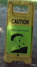 Best sign I have ever seen trail running