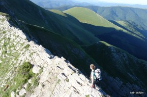 Off route on a knife edge - Pic d'Orhy