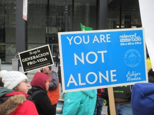 pro-life sign you are not alone