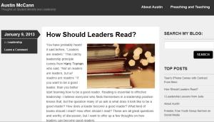 Austin McCann Blog