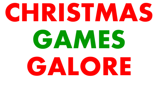 Christmas Games Galore (letters)