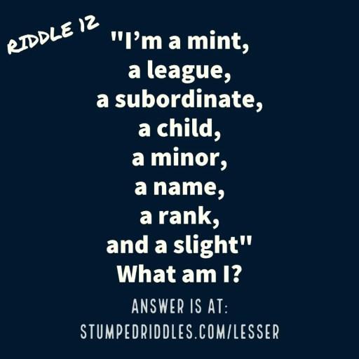 Riddle 12 on StumpedRiddles.com