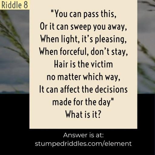 Riddle 8 on StumpedRiddles.com