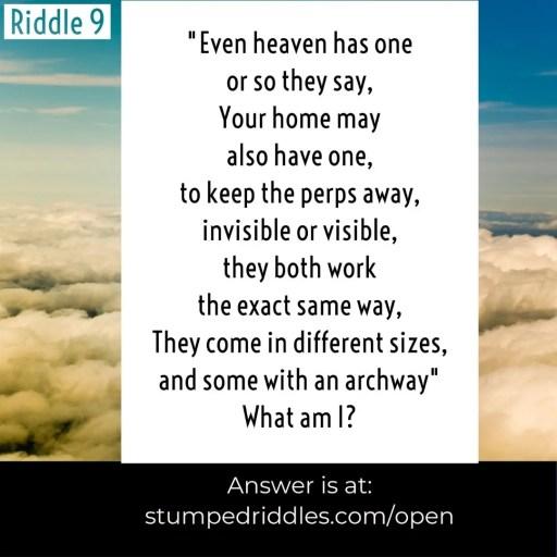 Riddle 9 from StumpedRiddles.com