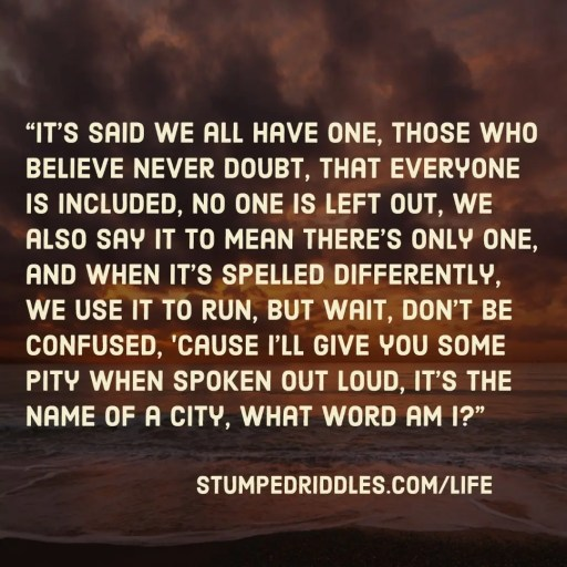 Stumped Riddles Number 3
