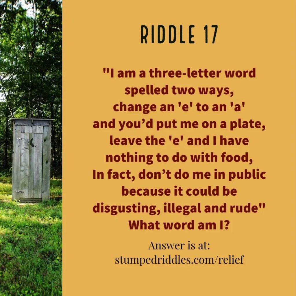 Riddle 17 on StumpedRiddles.com