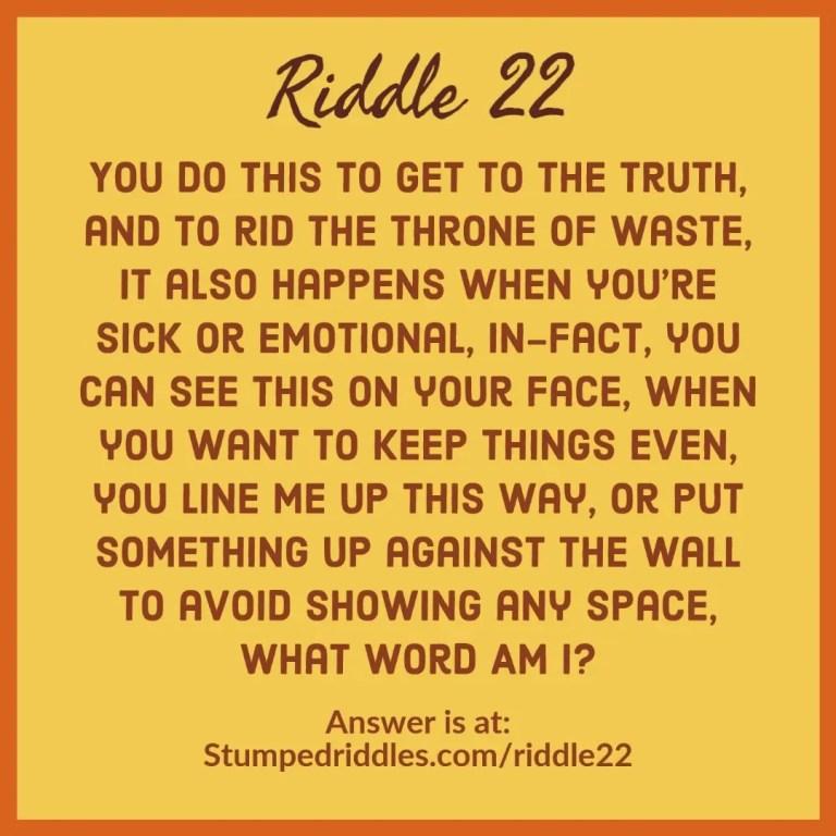 Riddle 22 from StumpedRiddles.com
