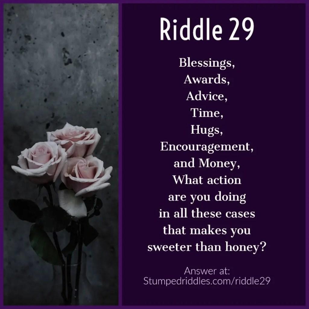 Riddle 29 on StumpedRiddles.com