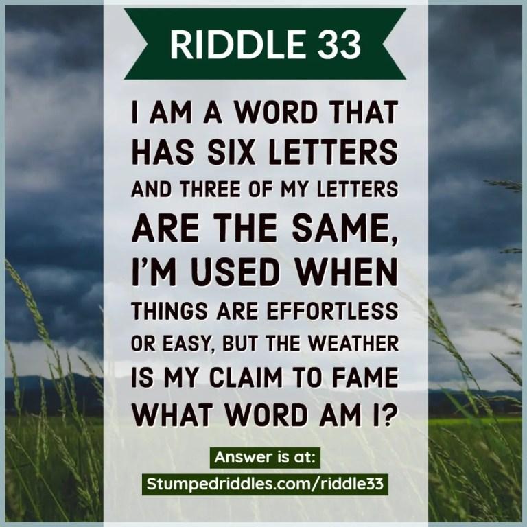Riddle 33 on StumpedRiddles