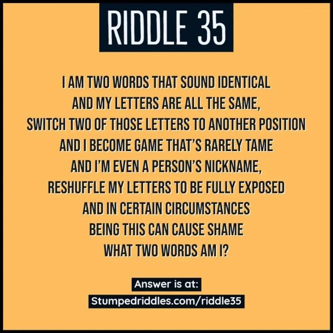 Riddle 35 on StumpedRiddles