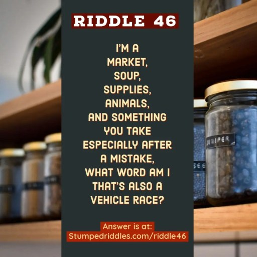Answer Page for Riddle 46 on StumpedRiddles